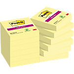 Post it Super Sticky Zelfklevende notes Kanariegeel Blanco 48 x 48 mm 70 g