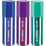 STABILO Pen 68 Viltstift Ronde punt Kleurenassortiment 20 Stuks