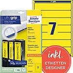AVERY Zweckform Ordnerrugetiketten Ultragrip L4765 20 Geel A4 192 x 38 mm 20 Vellen à 7 Etiketten