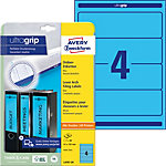 AVERY Zweckform ultragrip Ordnerrugetiketten A4 61 mm Blauw 20 Vellen à 4 Etiketten