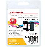 Office Depot Compatible HP HP15, HP78 Inktcartridge sa310ae Zwart 2 stuks