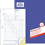 AVERY Zweckform Factuurboek 1734 Wit, geel A4 56 g