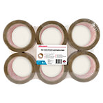 Office Depot Industriële tape Low noise 48 mm x 66 m Bruin 6 Rollen