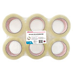 Office Depot Industriële tape Low noise 50 mm x 100 m Transparant 6 Rollen