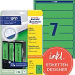 AVERY Zweckform BlockOut Rugetiketten A4 38 mm Groen 20 Vellen à 7 Etiketten