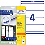 AVERY Zweckform Ordnerrugetiketten L4761 25 Ultragrip Wit A4 30 Vellen à 4 Etiketten 6,1 x 19,2 cm