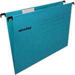 Niceday Hangmappen Euroflex A4 Blauw gerecyleerd karton ophangmaat 330 mm v bodem 25 stuks