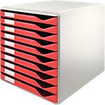 Leitz Ladenkastje 52810025 Lichtgrijs, rood 29,1 x 35,2 x 29,2 cm