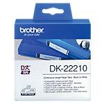Brother DK Continu papiertape DK 22210 Zwart op Wit 29 mm x 30,48 m