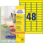 Avery Etiketten L6041 20 Geel Rechthoekig 960 Etiketten per Pak