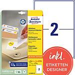 AVERY Zweckform Verwijderbare etiketten L4734REV 25 Wit A4 199,6 x 143,5 mm 30 Vellen à 2 Etiketten