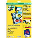 AVERY Zweckform Gekleurde etiketten L6004 25 Neon geel 63,5 x 29,6 mm 25 Vellen à 27 Etiketten