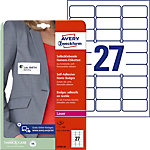 AVERY Zweckform L4784 20 Naambadge etiketten A4 Wit 63,5 x 29,6 mm 20 vel à 27 etiketten
