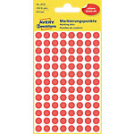 AVERY Zweckform 3010 Markeringspunten Rood Rood 8 x 8 mm 4 Vellen à 104 Etiketten
