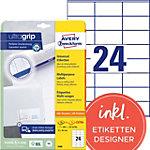 AVERY Zweckform Multifunctionele Etiketten 3490 Ultragrip Wit A4 70 x 36 mm 30 Vellen à 24 Etiketten