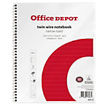 Office Depot Spiraalblok Wit, rood Gelinieerd A5+ 70 g