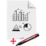 Legamaster Whiteboardvellen Magic Chart A1 Geruit Wit 60 x 80 cm 25 Vellen