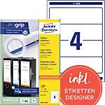 AVERY Zweckform Ordnerrugetiketten L4761 100 Ultragrip Wit A4 100 Vellen à 4 Etiketten 6,1 x 19,2 cm