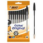 BIC Cristal® Balpennen Met dop Stuks pak 10 stuks Zwart