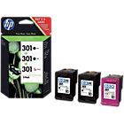 HP 301 Original Inktcartridge E5Y87EE Zwart, Tri color 3 Stuks