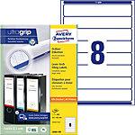 AVERY Zweckform Ordnerrugetiketten L6060 100 Ultragrip Wit A4 192 x 34 mm 100 Vellen à 8 Etiketten