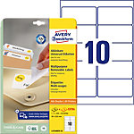 AVERY Zweckform Verwijderbare etiketten L4744REV 25 Wit A4 96 x 50,8 mm 30 Vellen à 10 Etiketten