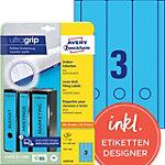 AVERY Zweckform Ordneretiketten L4753 20 Blauw A4 61 mm 20 Vellen à 3 Etiketten