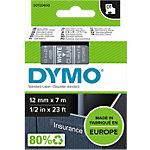 DYMO D1 Labeltape 45020 Wit op Transparant 12 mm x 7 m