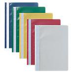Niceday Snelhechtermappen A4 Kleurenassortiment Polypropyleen Transparante voorpagina 25 Stuks