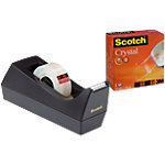 Scotch C38 Plakbandhouder Zwart Scotch® dispenser + 1 rol Scotch® Crystal tape 19 mm x 10 m