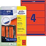 AVERY Zweckform Ordnerrugetiketten Ultragrip L4766 20 Rood A4 192 x 61 mm 20 Vellen à 4 Etiketten