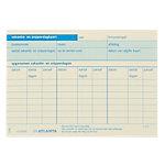 Jalema Vakantie  en snipperdagenkaarten Blauw A6 105 x 148 mm 70 g