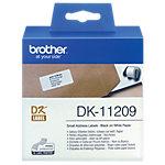 Brother Adresetiketten DK 11209 29 x 62 mm Wit 800 Etiketten