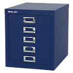 Bisley Meerladenkast 5 laden Blauw
