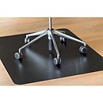 CLEARSTYLE Stoelmat Voor steen en parketvloeren Zwart 90 x 120 cm
