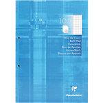 Clairefontaine A4 Gebonden Cursusblok Kartonnen kaft Blauw Geruit 100 Vellen
