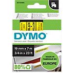 DYMO D1 Labeltape 45808 Zwart op Geel 19 mm x 7 m