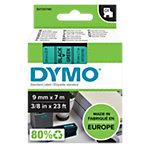 DYMO Labeltape Polyester 40919 Zwart op Groen 9 mm x 7 m