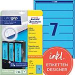 AVERY Zweckform Ordnerrugetiketten Ultragrip L4763 20 Blauw A4 192 x 38 mm 20 Vellen à 7 Etiketten
