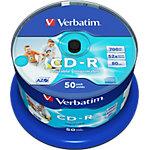 Verbatim CD R 43438 52x 700 MB 50 Stuks