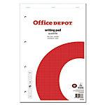 Office Depot Schrijfblok Wit, rood Geruit microperforatie A4+ 21 x 31,5 cm 70 g