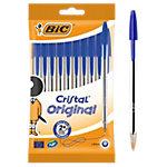BIC Cristal® Balpennen Met dop Stuks pak 10 stuks Blauw