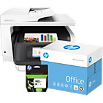 HP printer OfficeJet 8720  + 953XL Original Inktcartridge Zwart +  2500 vel Office Papier A4