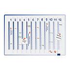 Legamaster Whiteboard Jaarplanner Accents Wit, blauw 90 x 4 x 60 cm