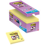 Post it Super sticky Zelfklevende notes Kanariegeel Blanco 76 x 76 mm 70 g