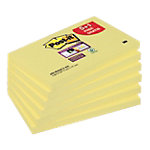 Post it Super sticky Zelfklevende notes Kanariegeel Blanco 76 x 127 mm 70 g