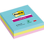 Post it Super sticky Zelfklevende notes Kleurenassortiment Gelinieerd niet geperforeerd 101 x 101 mm 70 g
