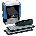 Trodat Printy 4912 Typo Rubberen stempel Zwart, blauw 4,7 cm