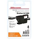 Office Depot Compatible Brother LC980BK Inktcartridge Zwart