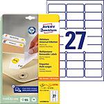 Avery Stick & Lift Herkleefbare etiketten Wit 675 stuks